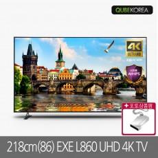 큐브코리아 EXE L860 UHD 4K TV 86인치TV